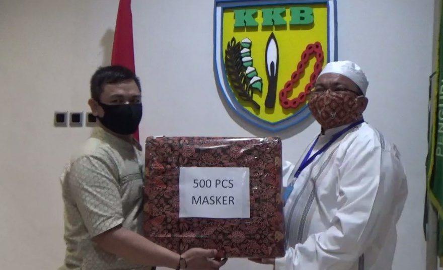 KKB Bagikan Masker ke zuriat Syekh Muhammad Arsyad Al Banjari