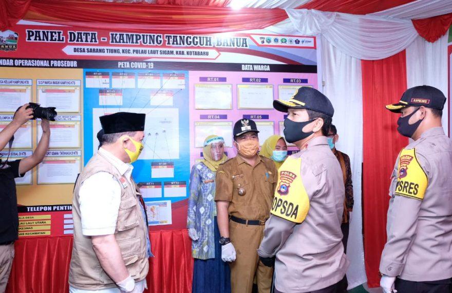 Kunjungan Kerja Kapolda Kalsel ke Kampung Tangguh Banua Kotabaru