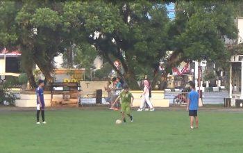 Warga HSS Ramai Lakukan Aktivitas Olahraga