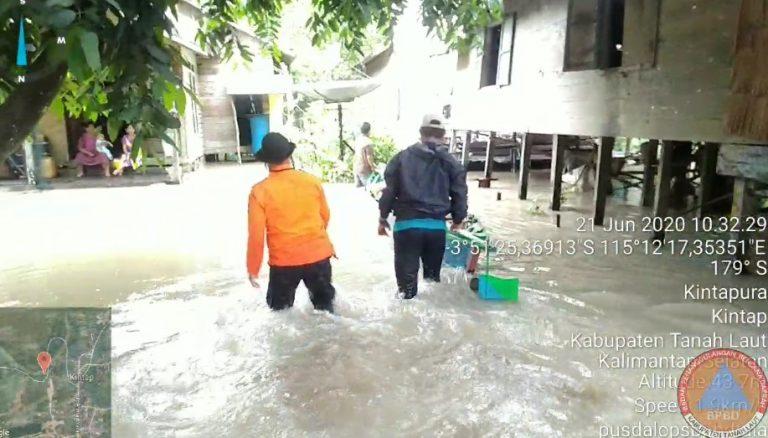 2 Hari Hujan Lebat 542 Rumah Terendam Banjir di Tanah Laut