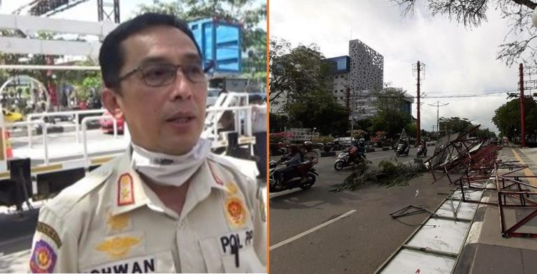 Ichwan Noor Chalik (kiri) PLT Kasatpol PP Banjarmasin