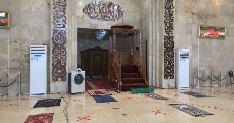 Positif Tinggi, Masjid Sabilal Pastikan Belum Gelar Sholat Jum'at