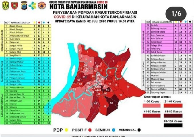 """Empat Kelurahan di Banjarmasin Jadi Zona """"Hitam"""""""