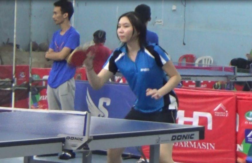 Jackleen Dominique Santa, Atlet Tenis Meja
