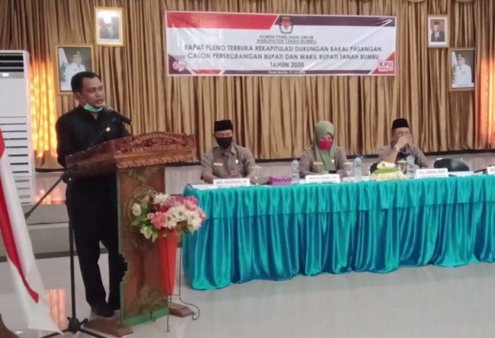 KPU Tanbu Gelar Rapat Pleno Rekapitulasi Jalur Perseorangan