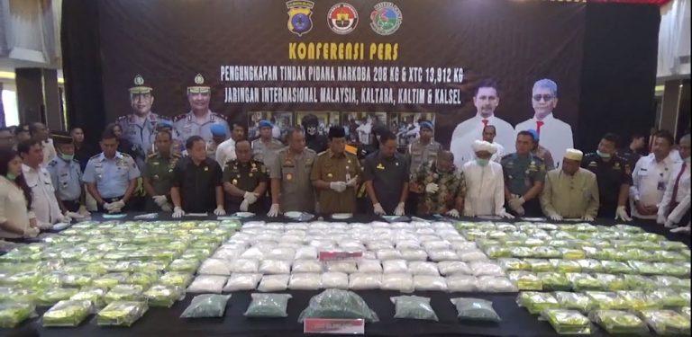 Konferensi Pers Pengungkap Tindak Pidana Narkoba (Dokumentasi)