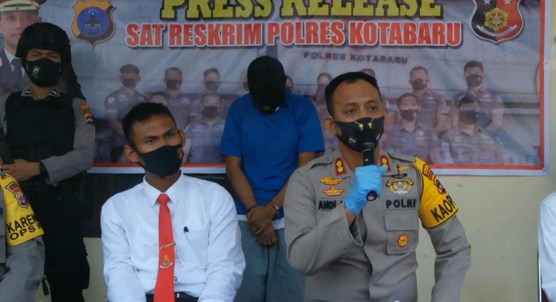 Press Release Sat Reskrim Polres Kotabaru
