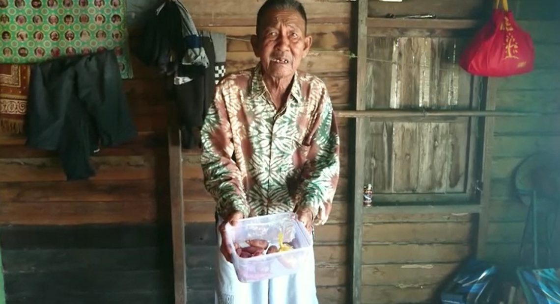 kai Taberani bertahan hidup dengan ubi rebus