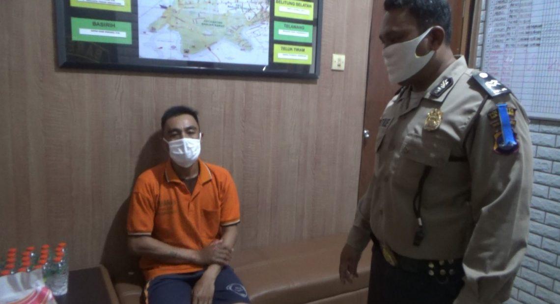 Rahmadi diamankan di polsek Banjarmasin Barat
