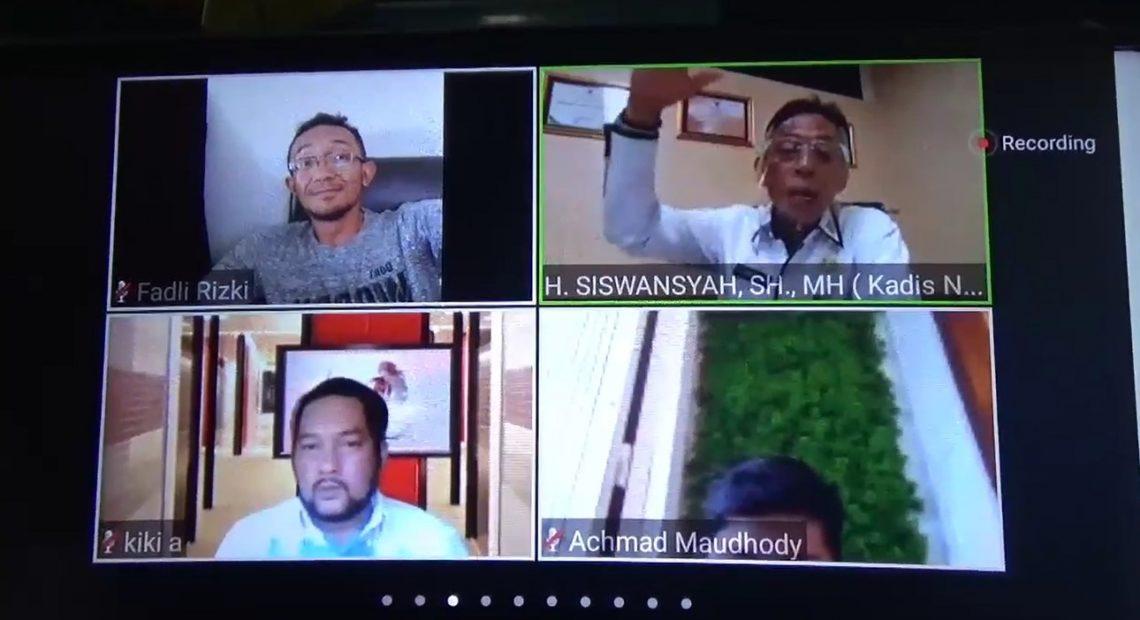 Persatuan wartawan Indonesia (PWI) Kalimantan Selatan, menggelar webinar atau diskusi virtual