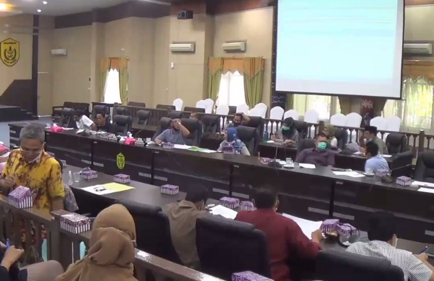 DPRD kota Banjarmasin Gelar Rapat Raperda RTRW