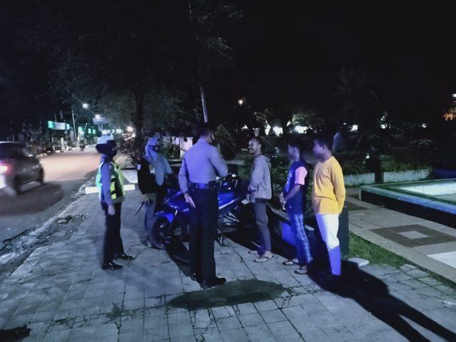 Polres HST Gelar Patroli Pendisiplinan Di Malam Hari