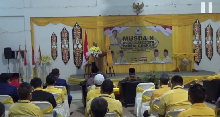 Musda X Musyawarah Daerah X Partai Golkar