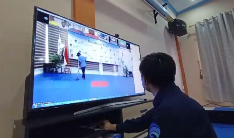 Persiapan Kominfo untuk kejuaraan nasional tondoku shironji Kempo melalui virtual