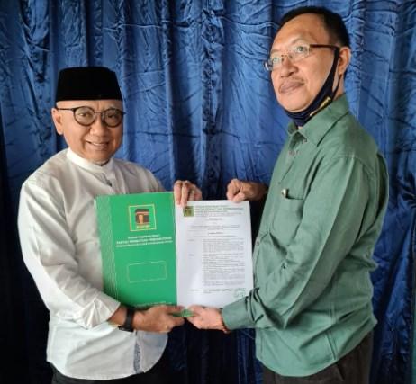 PPP resmi Mengeluarkan mengusung pasangan H Abdul Haris Makkie - Ilham Noor dalam Pilwali Banjarmasin 2020. SK