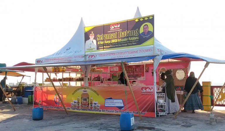 UMKM dan perajin di Kabupaten Kotabaru kini memiliki tempat untuk memasarkan langsung produknya. Stand yang digagas gerakan kewirausahaan nasional atau GKN ini berlokasi di Siring Laut.