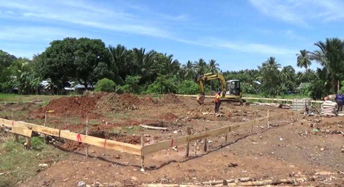 lapangan voli yang dibangun