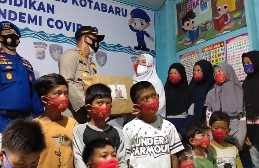 Bantu Anak Nelayan Belajar Daring, Satpolair Polres Kotabaru Pasang Wifi Gratis