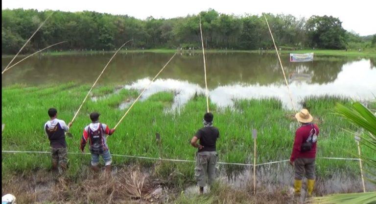 HUT Desa Pulau Pinang Gelar Lomba Mancing