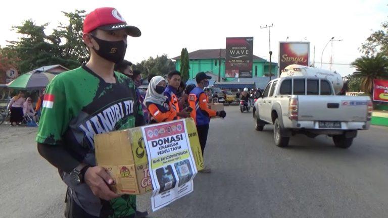 Tim Gabungan Relawan Tapin Gelar Aksi Donasi Kemanusiaan