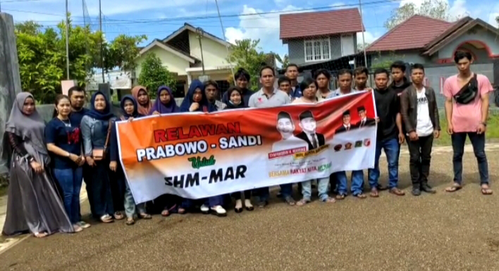 Pemuda Relawan Prabowo-Sandi Nyatakan Dukungan Untuk Pasangan SHM-MAR