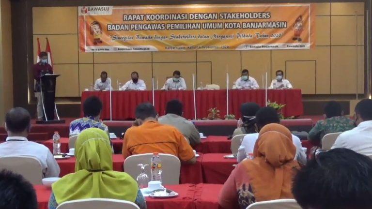 Kegiatan Rapat Koordinasi dengan Stakeholders Bawaslu Kota Banjarmasin
