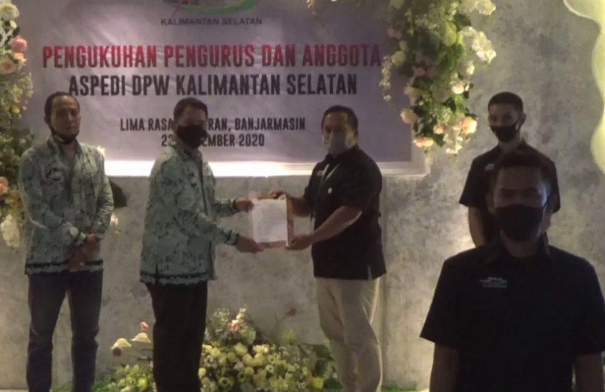 Pengukuhan Kepengurusan DPW Aspedi Kalsel
