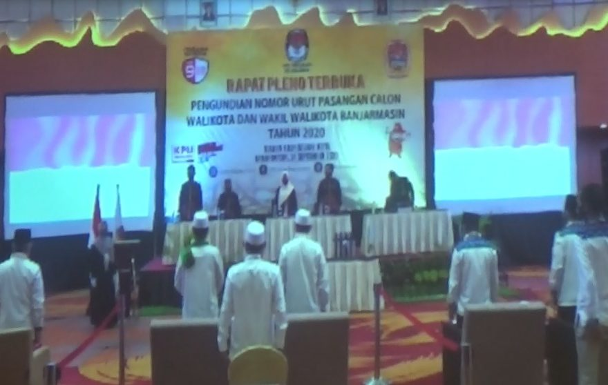 Pengundian Nomor Urut Paslon Wali kota dan wakil Wali kota Banjarmasin