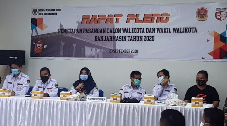 KPU Tetapkan 4 Paslon Wali kota Banjarmasin