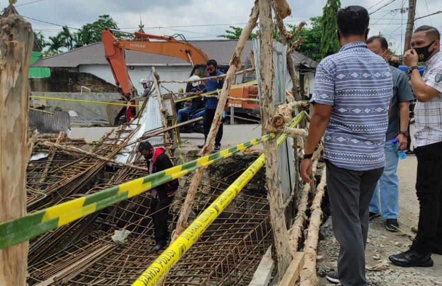 Sat Reskrim Polresta Banjarmasin, langsung melakukan olah TKP di lokasi kejadian