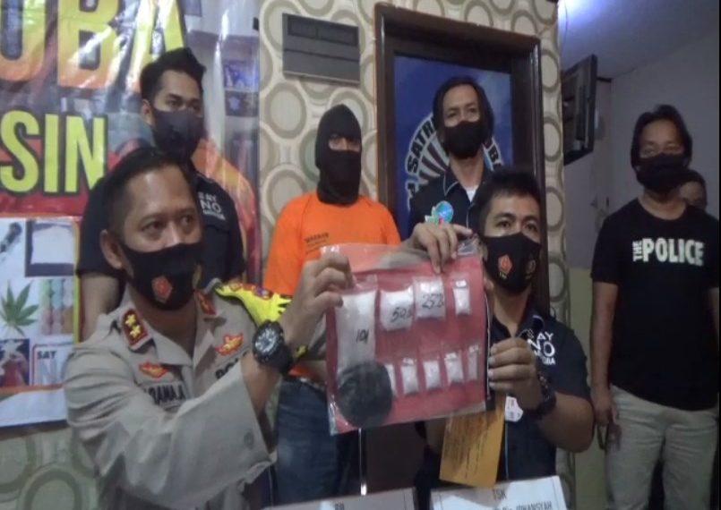 Satresnarkoba Polresta Banjarmasin Mengankan pengedar narkoba jenis sabu