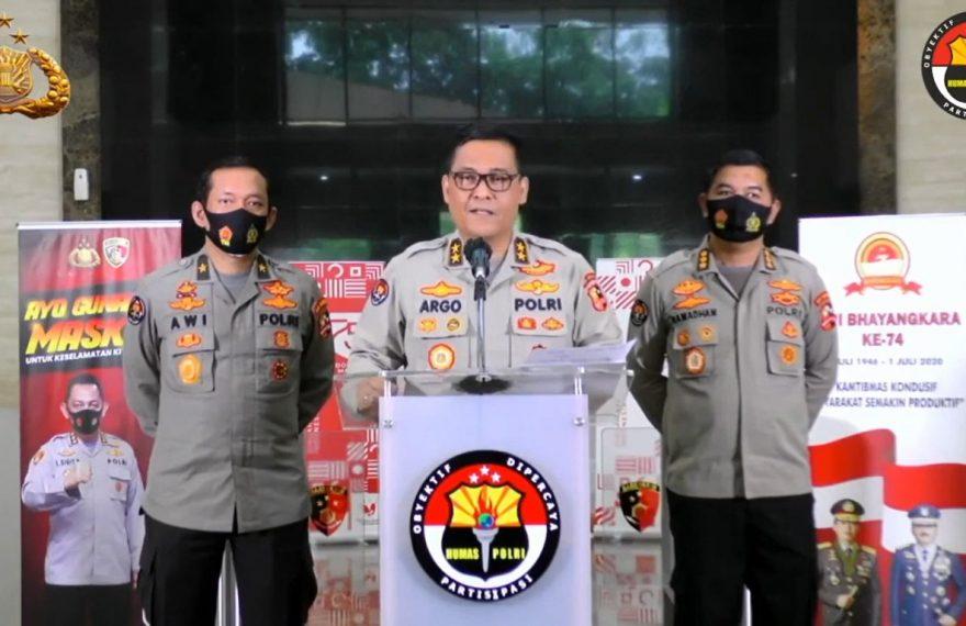 Kepala divisi humas Polri Inspektur Jenderal Polisi Argo Yuwono