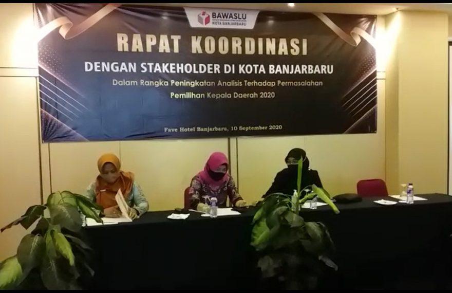 rapat koordinas Bawaslu Banjarbaru