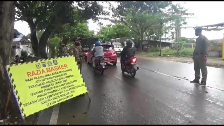 Sanksi Denda Masker di Kota Banjarmasin Sudah Capai Rp 7 Juta