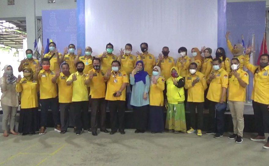 DPD Golkar Banjarmasin, mengunjungi markas pemenangan pasangan calon kepala daerah Ananda - Mushaffa