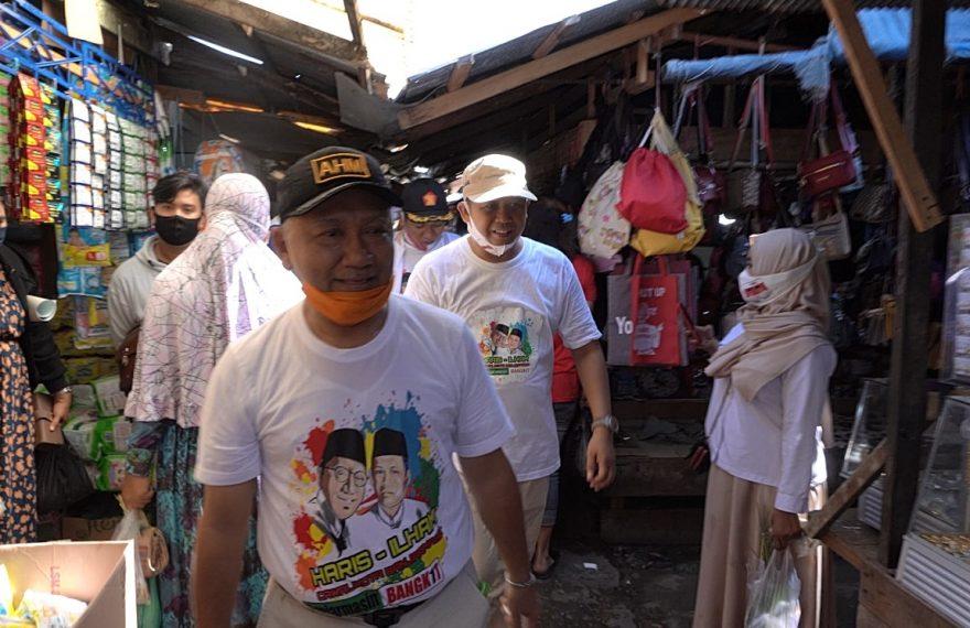 Haris Makkie dan Ilham Nor sambangi Pasar Kalindo