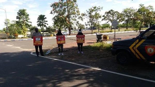 Polsek Banjarbaru Timur Gelar Patroli Jalankan Maklumat Patroli Disiplin Prokes