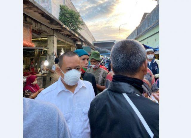 Ilham Nor berkunjung ke pasar Sentra Antasari dan Pasar Lama Banjarmasin.