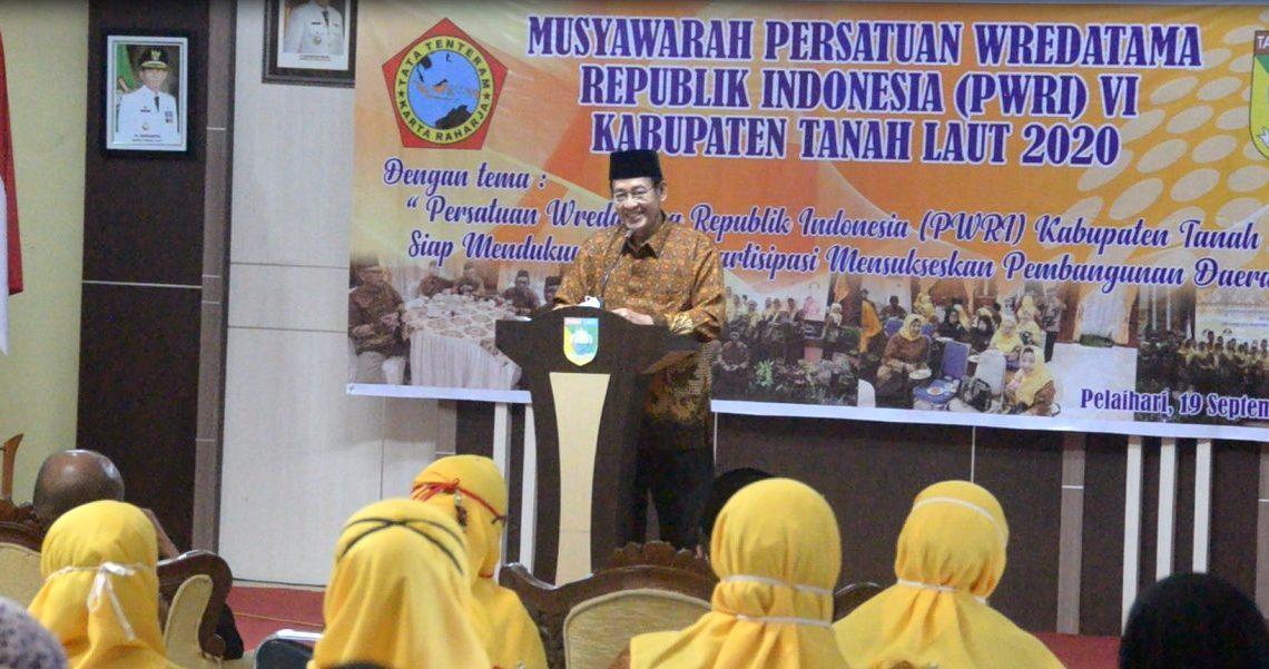 Musyawarah ke-6 Persatuan Wredatama Republik Indonesia PWRI Kabupaten Tanah Laut