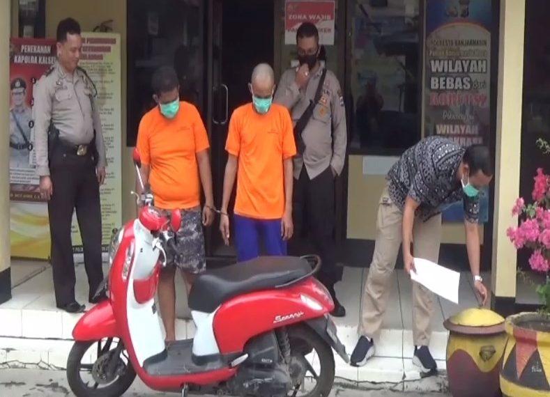 Polisi Ringkus 2 orang pelaku Gadaikan Motor Tetangga