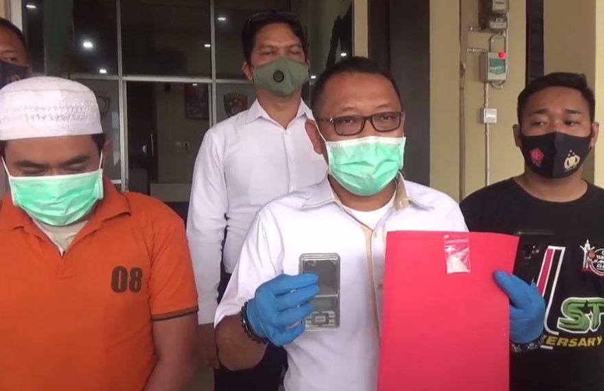 Polsek Banjarmasin Barat M Mengamankan Ancah pemiliki barang haram narkoba