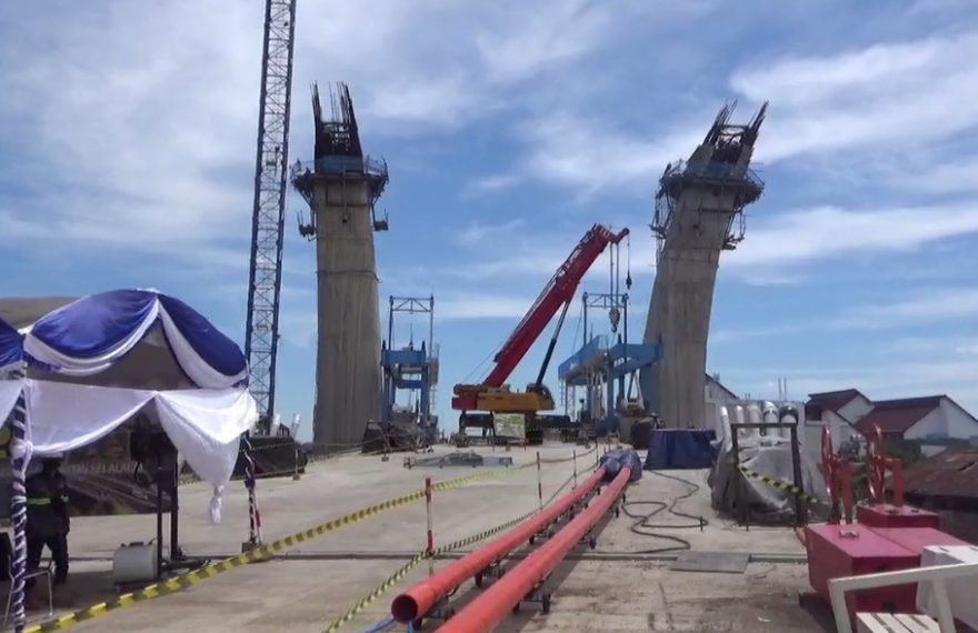 Proses Pembangunan Jembatan Alalak