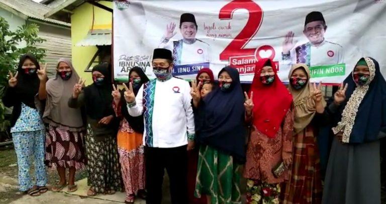 Ibnu Sina menyambangi warga kelurahan Sungai Andai