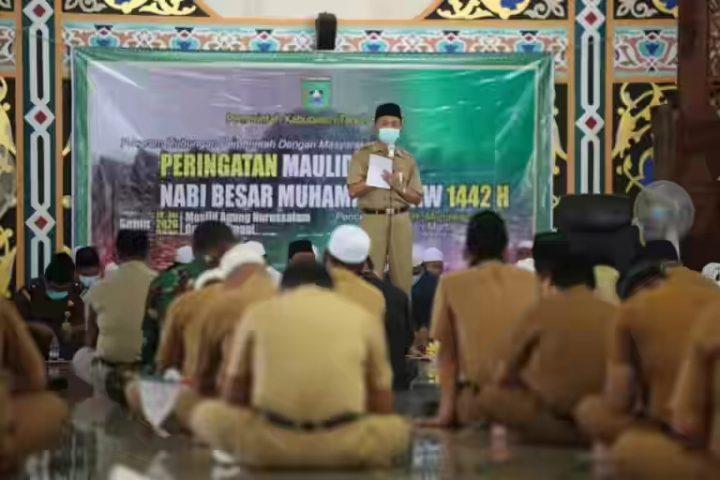Pemkab Tanbu Peringati Maulid Nabi Muhammad SAW 1442 H