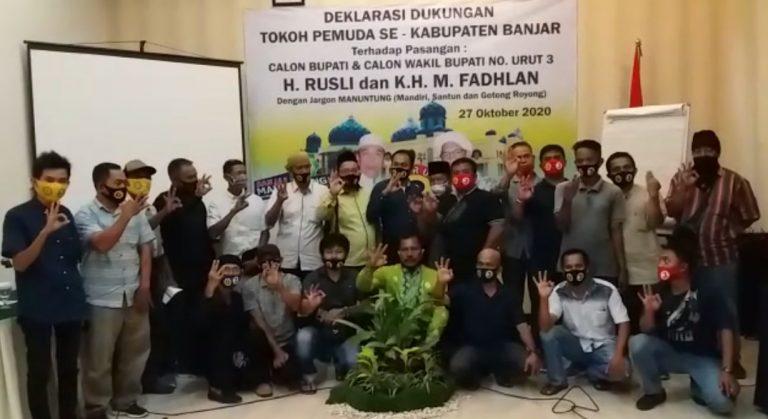 deklarasikan dukungan penuh untuk Paslon Bupati Banjar RF