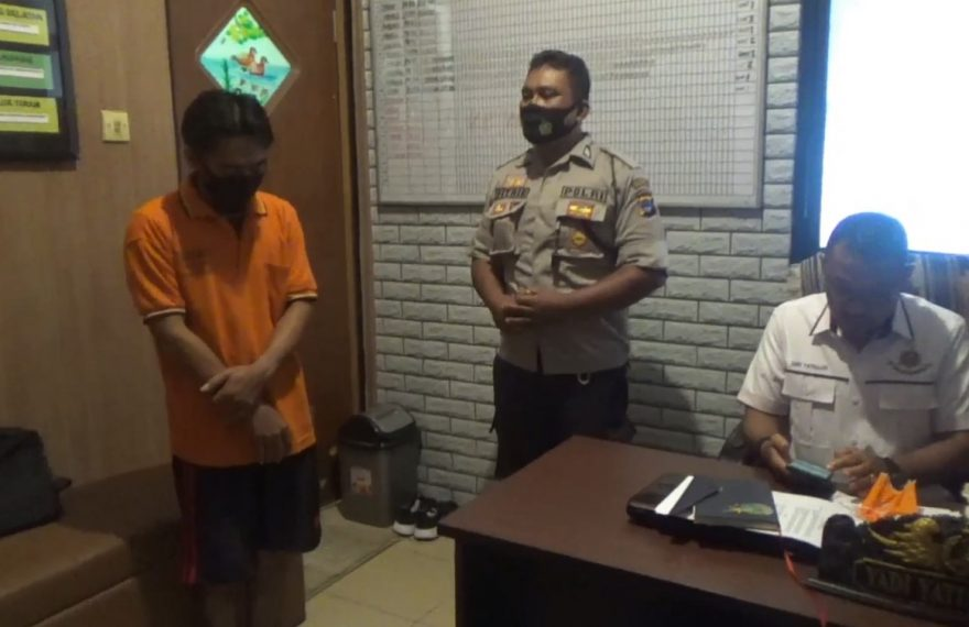 pelaku penusukan di Mapolsek Banjarmasin Barat