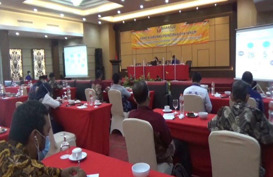Bawaslu kota Banjarmasin, menggelar rapat kordinasi