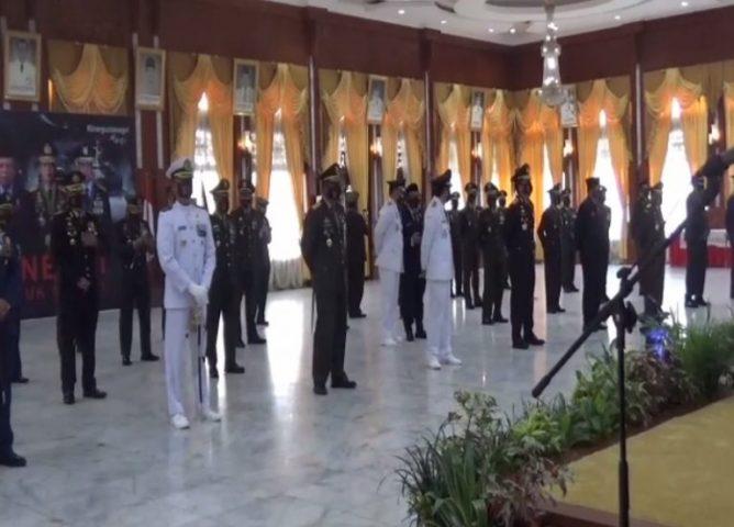 upacara Hut ke-75 TNI secara virtual di Gedung Mahligai Pancasila
