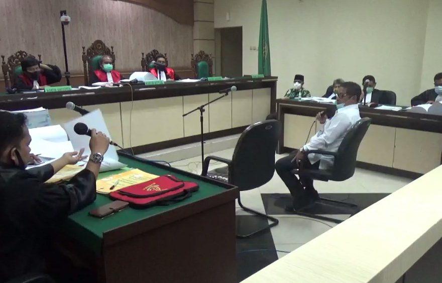 Achmad Noor Djaya sebagai saksi dalam persidangan di pengadilan Tipikor Banjarmasin