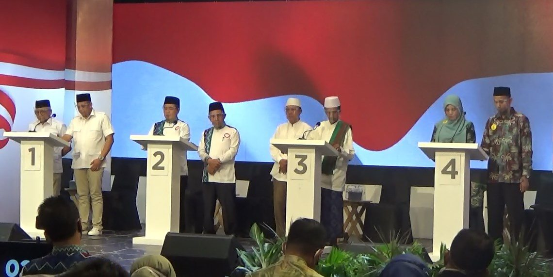Proses Debat Terakhir Calon Wali Kota Banjarmasin